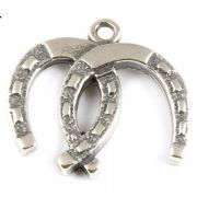 Double Horseshoe Sterling Silver Charm